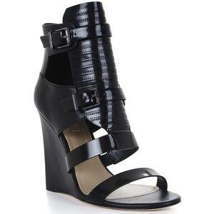 BCBG | Lidelle Wedge Sandals Black